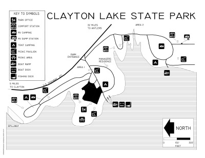 Clayton Lake State Park Map